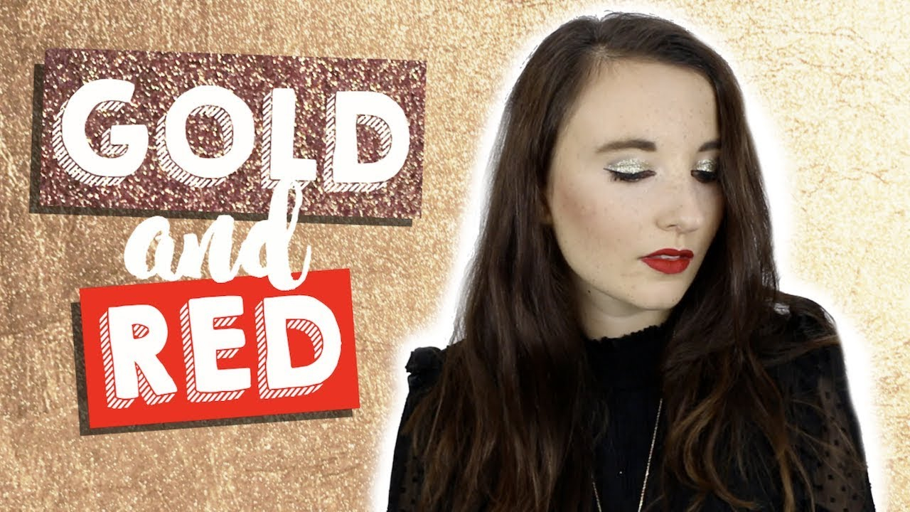 Tuto make-up Noël Gold & Red