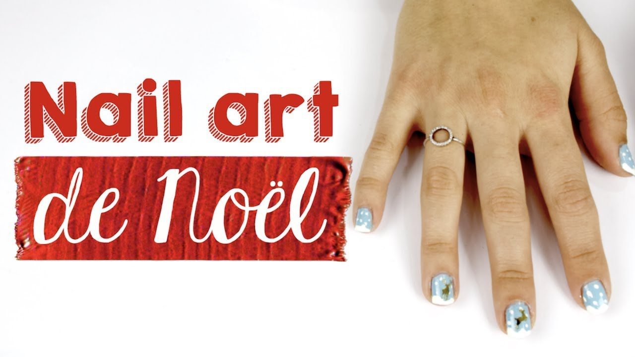 Tuto nail art de Noël