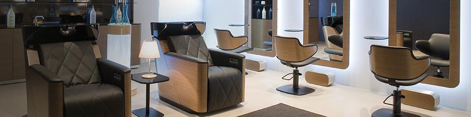 Mobilier - Fauteuil de coiffure, Bac de lavage coiffure, Tabouret ...