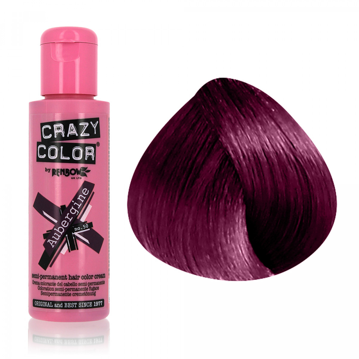 coloration semi permanente renbow crazy color 100ml gouiran beaut particulier - Crazy Color Aubergine