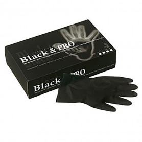 Gants latex Taille L 7.5 - Black & Pro