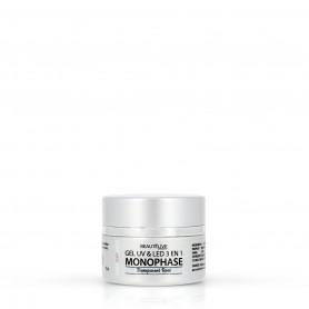 Gel UV & LED 3en1 Soft Transparent rose  - 15g - Brillant