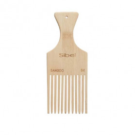 Peigne Afro en bois antistatique