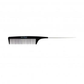 Peigne à Queue en Fer Carbone Noir 21,3cm