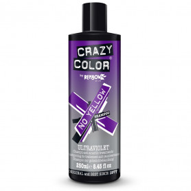 Shampoing anti-jaunissement Ultraviolet - 250ml - Crazy Color - Blonds et décolorés