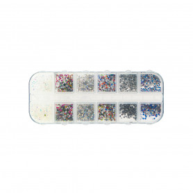 Strass nail art colorés
