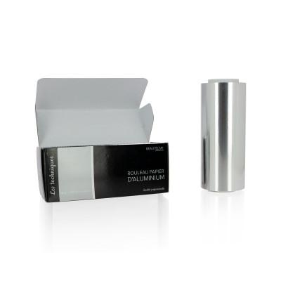 Papier aluminium mèches 15 microns, 15cmx100m