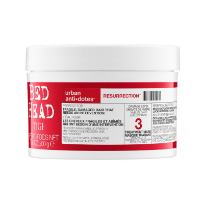 Masque traitement intensif Resurrection - 200g - Bed Head, Resurrection - Abîmés et cassants