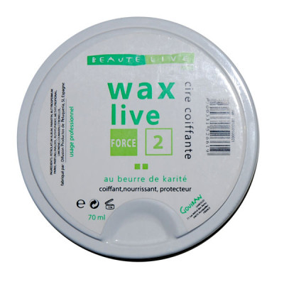 Cire coiffante - 70ml - Wax Live - Fixant