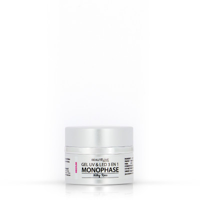 Gel UV & LED 3en1 Medium Milky rose - 15g - Unifié