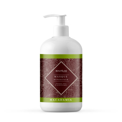 Masque huile de macadamia - 470ml - Macadamia - Secs et déshydratés