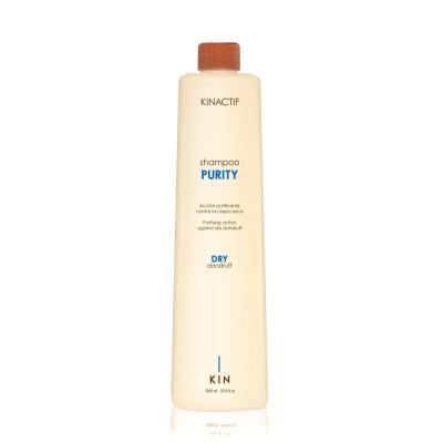 Shampoing pellicules sèches - 1000ml - Purity - Cuir chevelu sensibilisé/pelliculeux, Secs et déshydratés