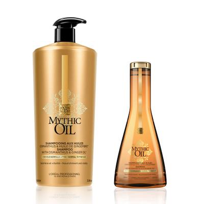 Shampoing aux huiles précieuses - Mythic Oil - Fins et Plats, Normaux