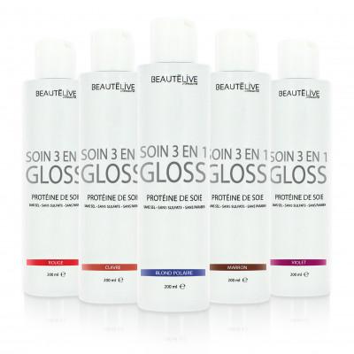 Soin gloss repigmentant 3 en 1 - 200ml - Colorés et méchés