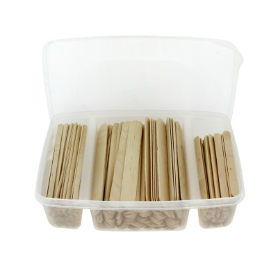 Boite spatules épilation bois assortiment 3 tailles x400