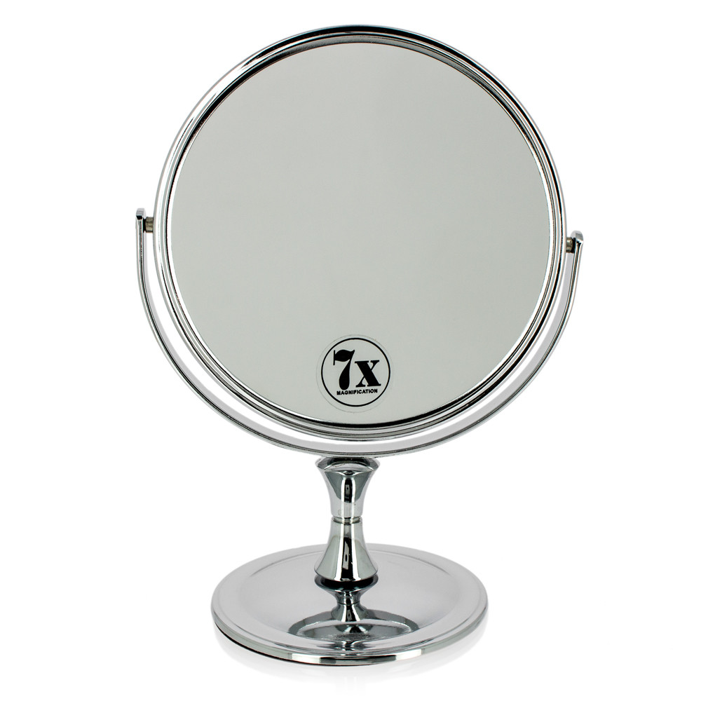 Miroir grossissant x7 double face chrome altesse for Miroir grossissant