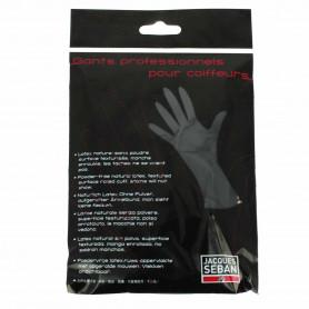 1 paire de gants noirs en latex