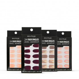 FAUX ONGLES ADHESIFS X24 BEAUTELIVE