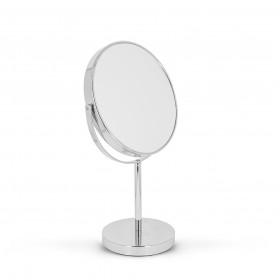 Miroir double face sur pied 20 cm Chrome gross. x7