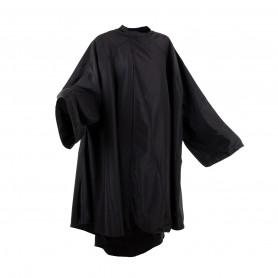 Peignoir polyester Noir avec manches