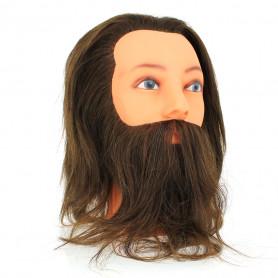 Tête à coiffer professionnelle avec barbe YAN 2