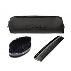 Trousse barbe brosse et peigne