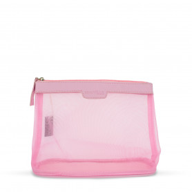 Trousse rose transparente