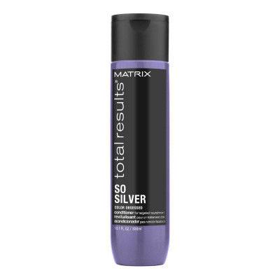 Conditionner pour cheveux blonds et gris - 300ml - So Silver, Total Results - Blonds et décolorés, Gris/blancs