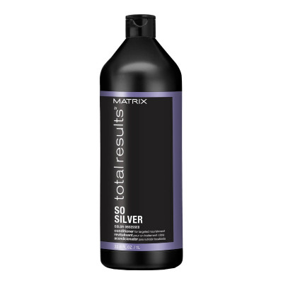 Conditionner pour cheveux blonds et gris - 1000ml - So Silver, Total Results - Blonds et décolorés, Gris/blancs