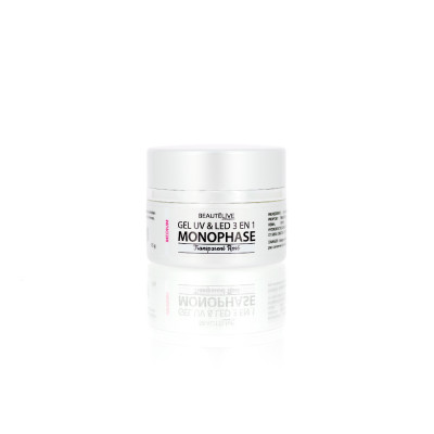 Gel UV & LED 3en1 Medium Transparent rose - 15g - Unifié