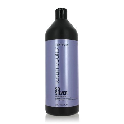 Shampoing Silver - 1000ml - Total Results - Blonds et décolorés, Gris/blancs
