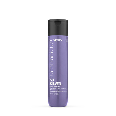 Shampoing neutralisant - 300ml - So Silver, Total Results - Blonds et décolorés, Gris/blancs