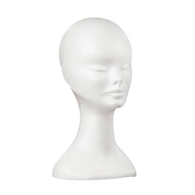 Tête de femme en polystyrène blanc