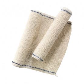 2 bandes de crêpes pur coton, tissu élastique