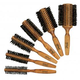 Brosse brushing en bois et poils de sanglier