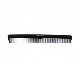 Peigne démêloir double Carbone Noir 18,3cm Beautélive