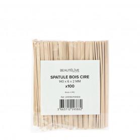 Spatules bois cire 140x6x2mm X100 Beautélive