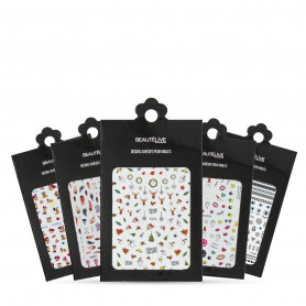 STICKERS 3D POUR ONGLES BEAUTELIVE