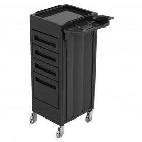 Table Coloration Giulia Noire 4 tiroirs + Repose Bols