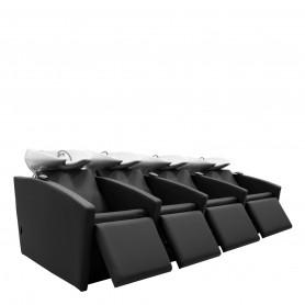 Bac DRIEN 4 places lève-jambes électriques cuvette blanche