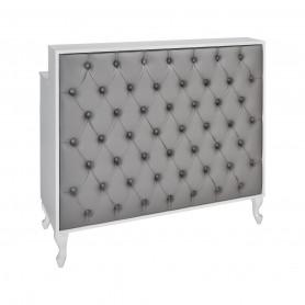 Caisse MADAME Matelassée avec Boutons Structure Blanc Gloss