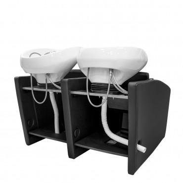 Bac Adrien 3 places Lève-jambes électrique cuvette blanche