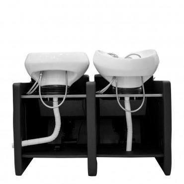 Bac ADRIEN 2 places Lève-jambes électrique cuvette blanche - 2 places