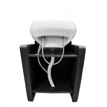 Bac ADRIEN 1 place avec Lève-jambes électrique cuvette blanche