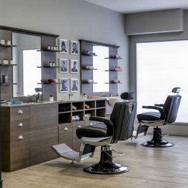 Verre de protection Blanc pour meuble Barbier 150cm