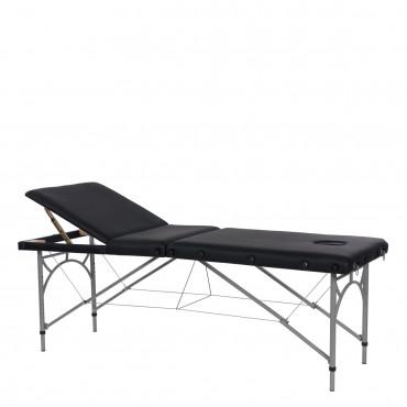 Lit de Massage Vastis Noir Pliant