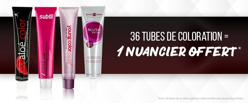 36 tubes achetés = 1 nuancier OFFERT