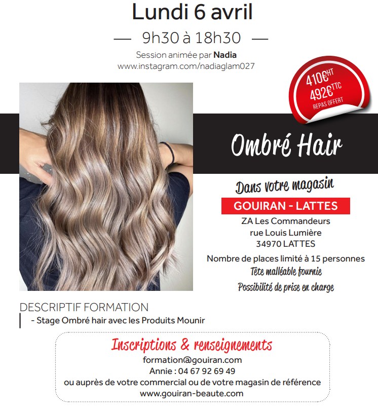 Formation ombré hair;
