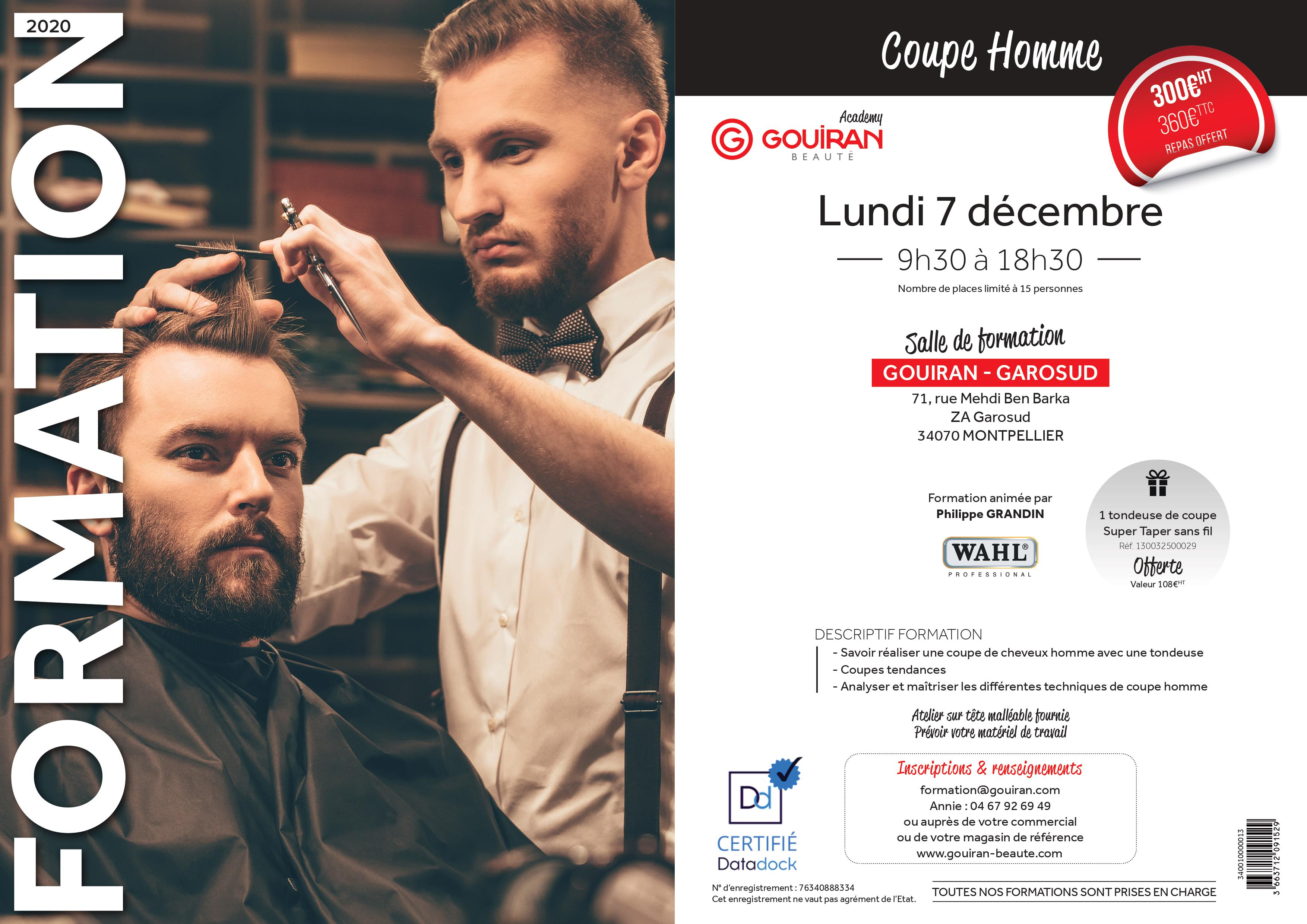 Formation coupe homme
