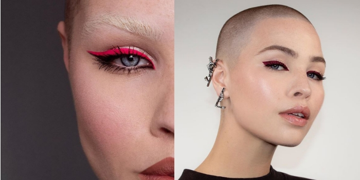 eyeliner rouge rose